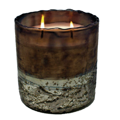 Tobacco Bark - Midnight Glass Vessel