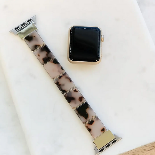 Acrylic Stretch Smart Watch Band - Ivory Tortoise