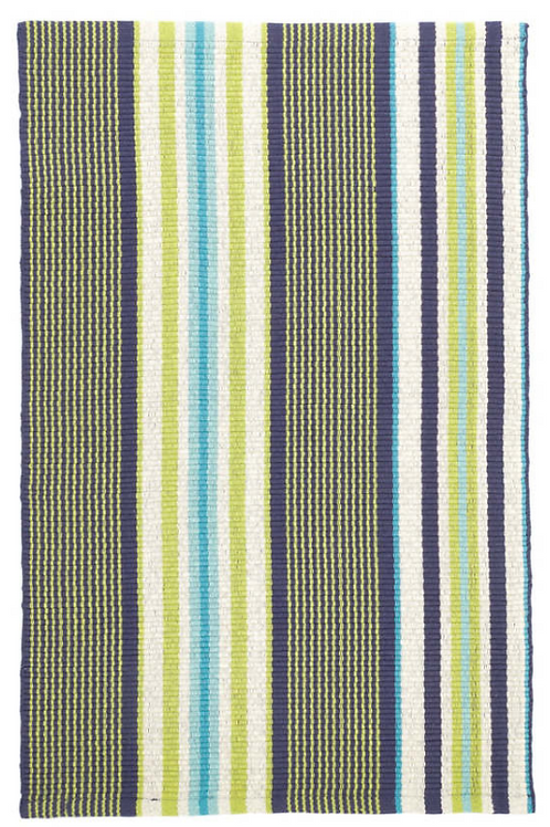 Stripe Woven Cotton 2x3 Rug