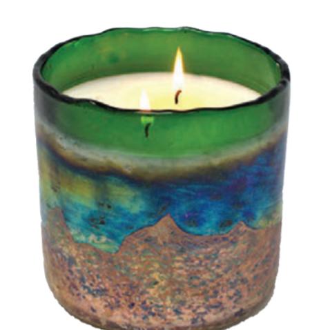 Desert Springs - Jungle Green Glass Vessel