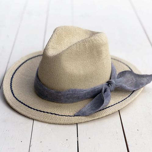 Sunshine Hat w/ Grey Linen Sash