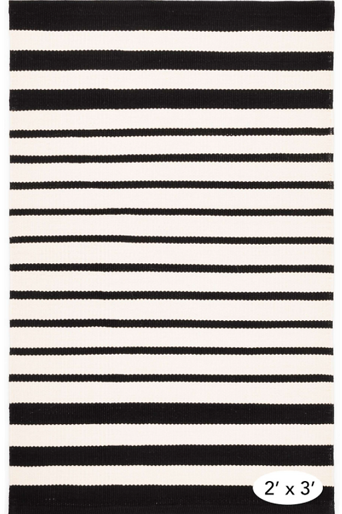 Black Stripe Indoor/Outdoor 2x3