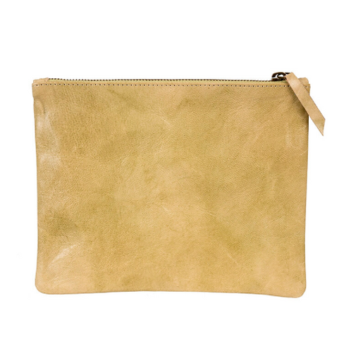 Leather Pouch, Camel