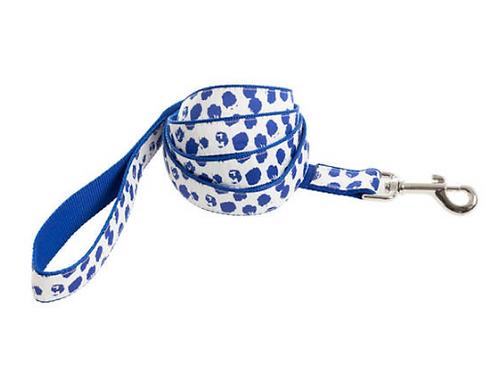 Dalmatian White/Blue Leash