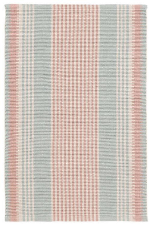 Coral Stripe Woven Cotton 2x3