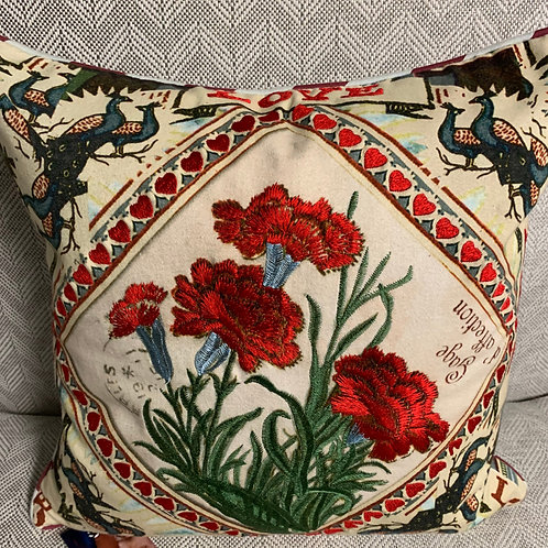 Floral Designer Pillow 16x16