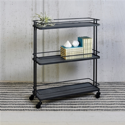 Three Tier Trolley - Black