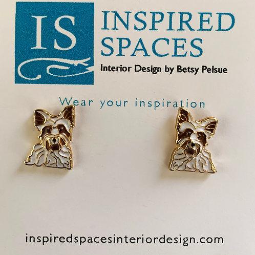 Yorkshire Terrier Stud Earrings