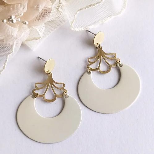 Ivory Hoop Earrings