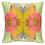 """Thumbnail: Green/Pink Linen Pillow - 22"""""""