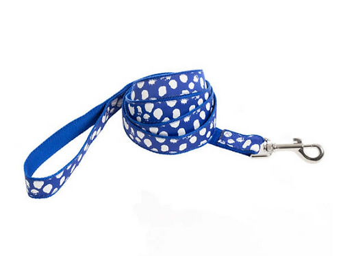 Dalmatian Blue/White Leash