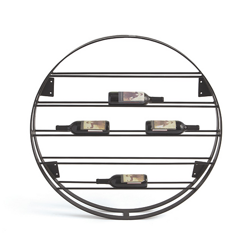 Round Iron Wine Rack