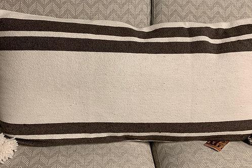 Brown/White Cotton Stripe 35x16