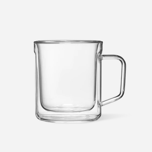 Glass Mug - Clear 2 pk