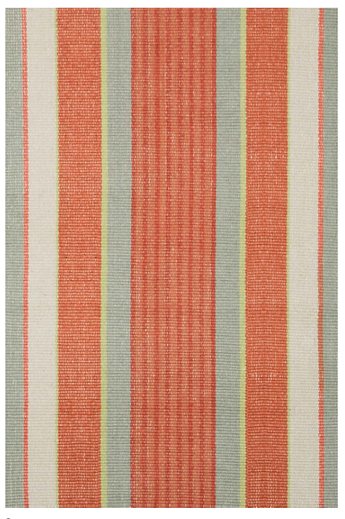 Striped Woven Cotton Rug 2x3