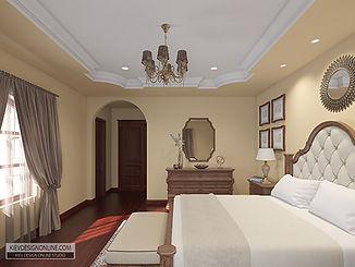 Mediterranean guest bedroom design