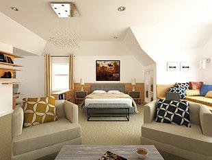 contemporary bedroom design by kiev design online studio
