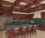 Interior 3D Rendering of Midterrenean kitchen
