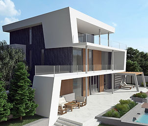 architectural exterior 3d visualization