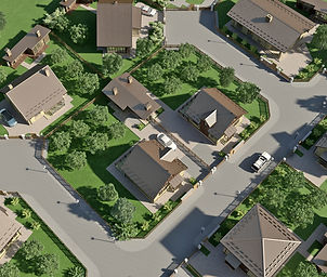aerial 3d architectural visualization