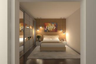 Contemporary bedroom. New York.