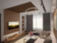 Modern living room interior design by Kiev Design Online Studio