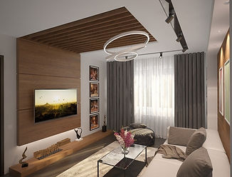Modern living room interior design by Kiev Design Online Studio
