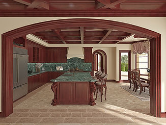 Mediterranean kitchen interior design