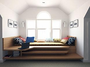 contemporary bedroom design by kiev design online studio wood podium