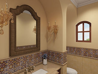 Mediterranean bathroom interior design