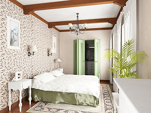 Bedroom interior design in Provance style