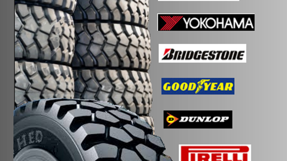 Industrial Tyres all makes and sizes