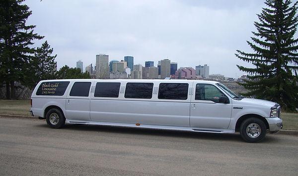 A white Ford excursion in Edmonton