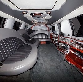 The classy interior of the white Ford excursion