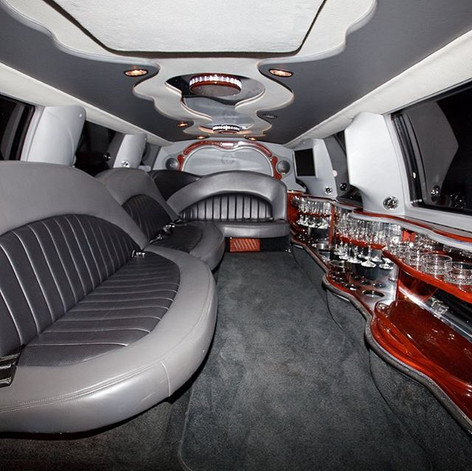 Interior of a our limo