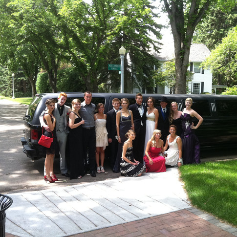 Celebrating Grad with a Limo Ride