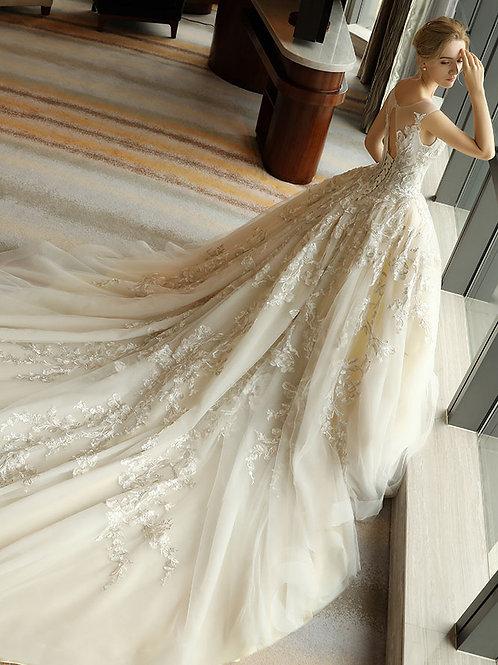 Wedding dress 2019 new French bride wedding trailing dream princess