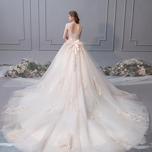 French 2019 new light wedding dress long tail luxury dream
