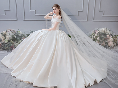 French 2019 new long tail luxury dream wedding bride