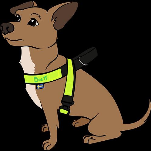 Eftersök / Spår sele med reflex för liten hund (3cm bred)