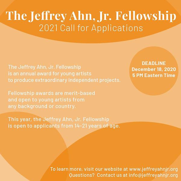 2021 Jeffrey Ahn, Jr. Fellowship Call for Applications