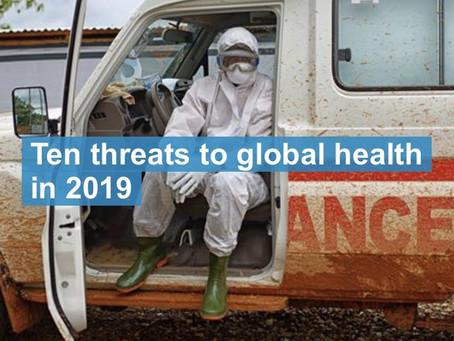 Las 10 amenazas a la salud en el 2019