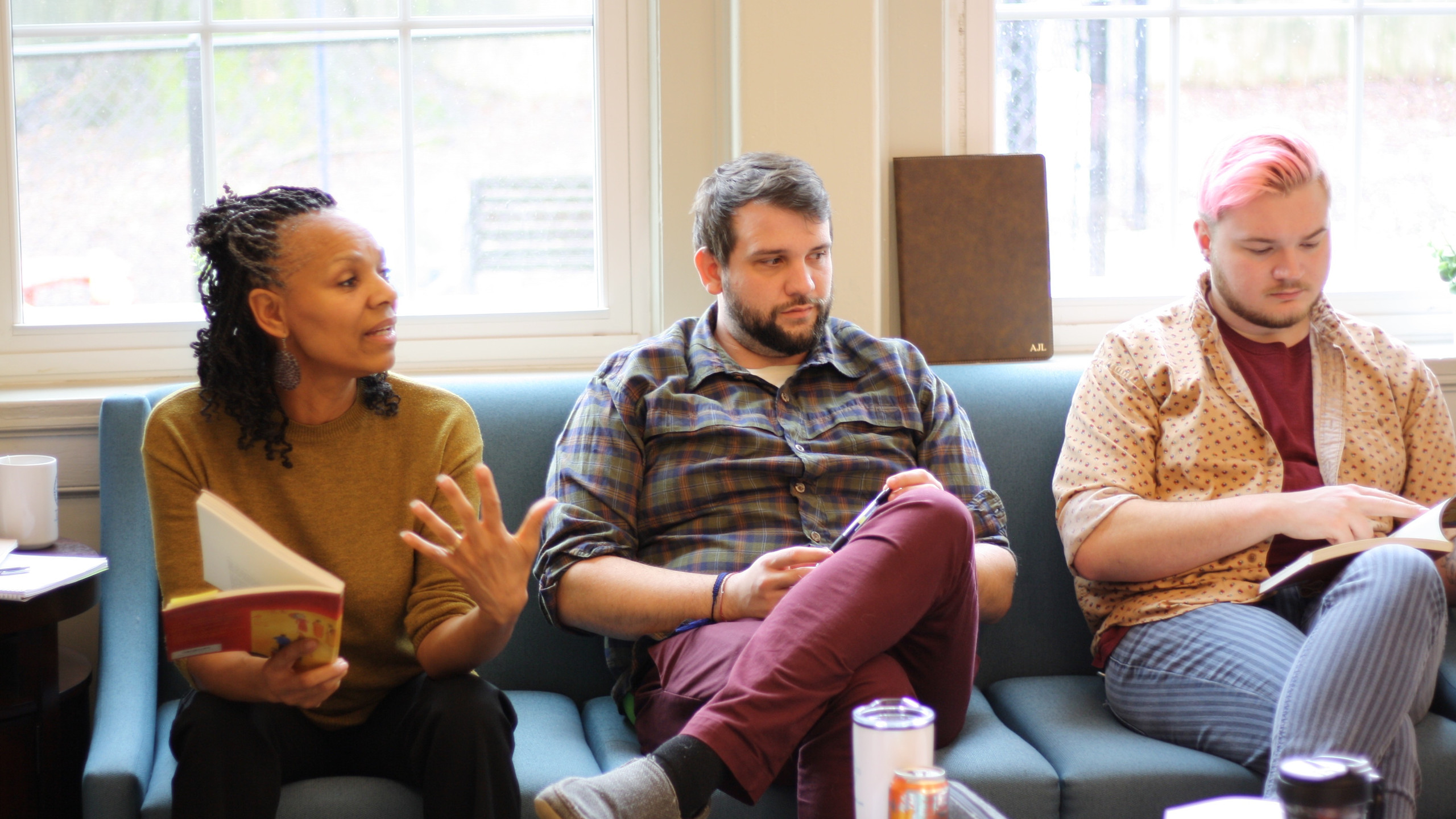 Derona King, Aaron Lichkay from Citizen Advocacy, along with Ben Dell sitting on a couch togeher.