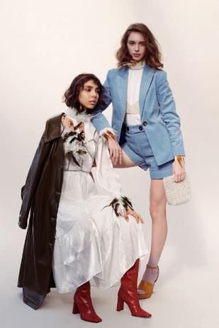 Dress: Absence of Colour  Coat: Top Shop Boots: Zara Blazer: Top Shop Shirt: Zara Pants: Top Shop Sandals: Mango