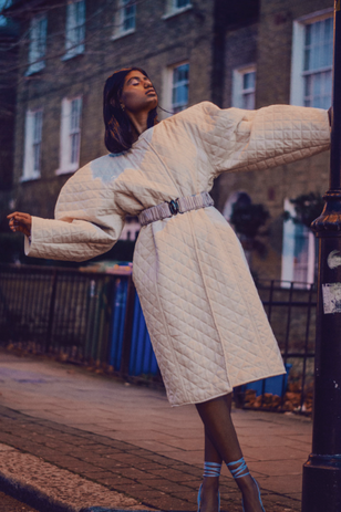 Coat: Magpies and Peacock Shoes: Maryam Nassir Zadeh