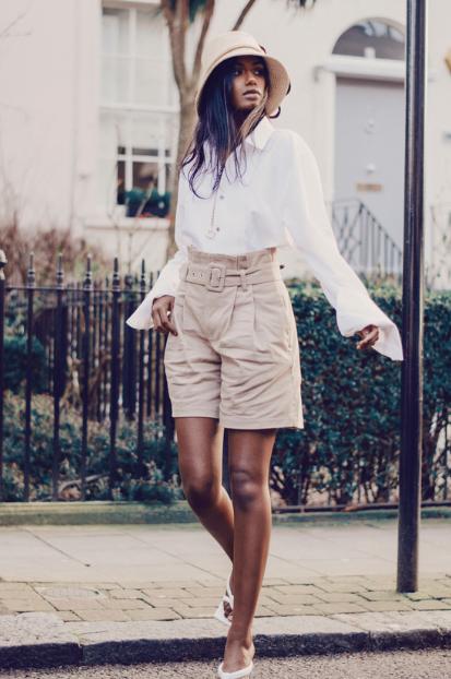 Top: Malan Breton Shorts: Scotch and Soda  Hat: Misa Harada
