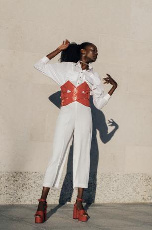 Top: Zavi Pants: Zara Belt: Malan Breton Shoes: Malan Breton  Accesories: The Hirst Collection