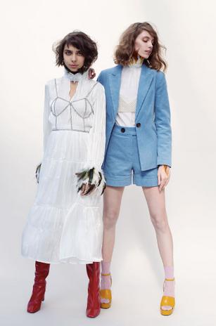Dress: Absence of Colour  Chain: Top Shop Boots: Zara Blazer: Top Shop Shirt: Zara Pants: Top Shop Sandals: Mango
