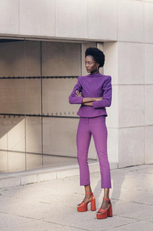 Jacket: Zara Pants: Zara Shoes: Malan Breton Accesories: The Hirst Collection