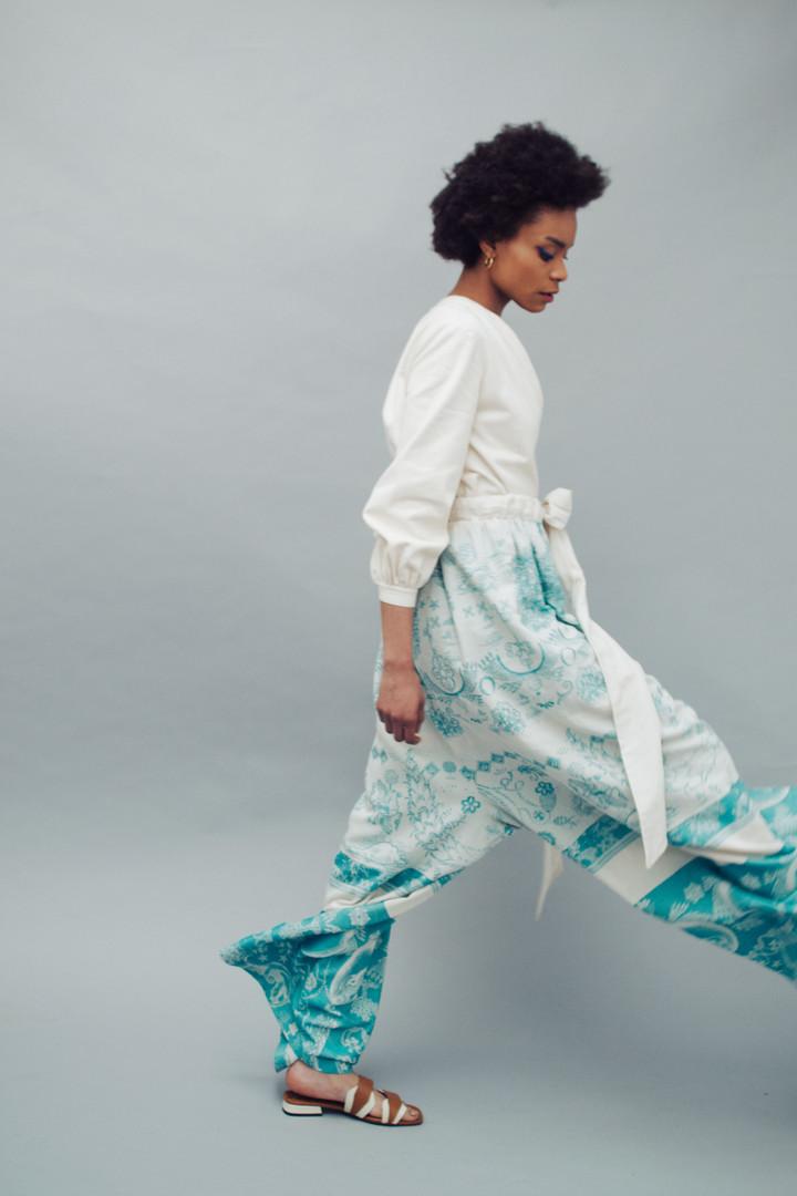 Top: Dolce & Gabbana  Pants: Ergon  Shoes: Chie Mihara Earrings: Pandora